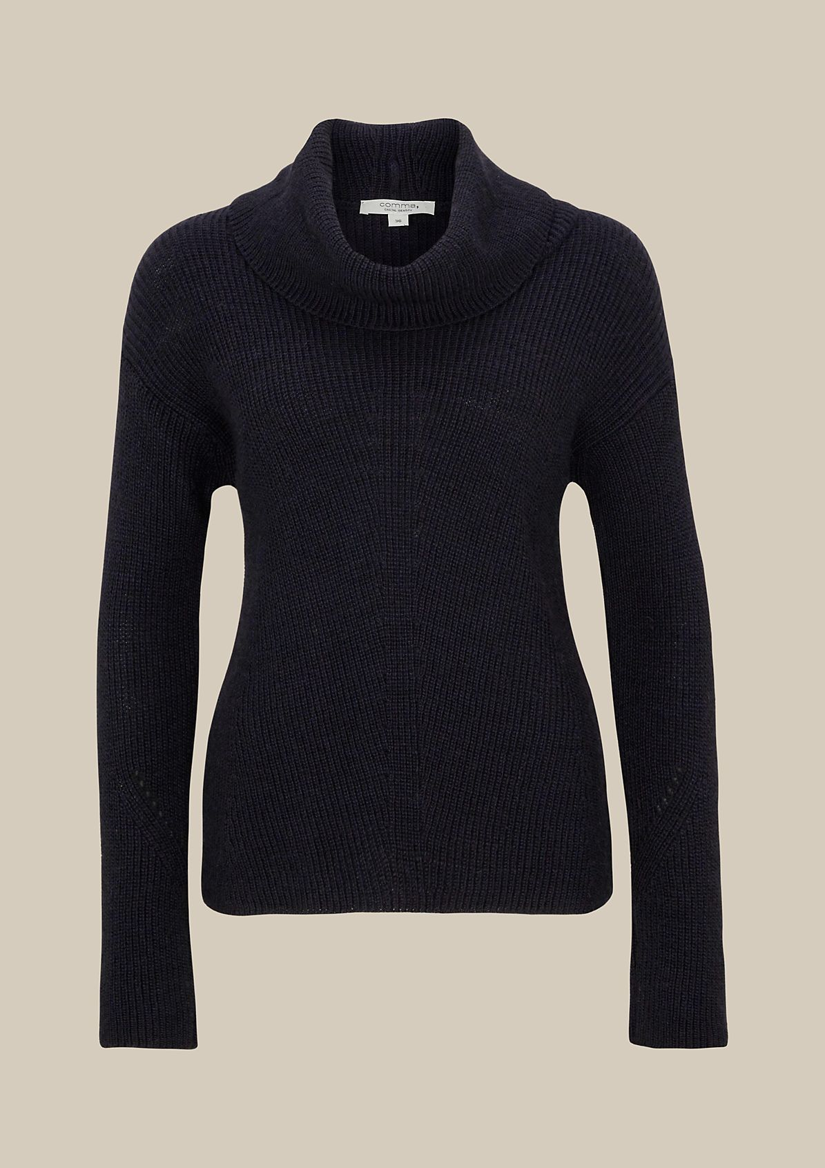 Cosy knit jumper with a high roll neck from s.Oliver