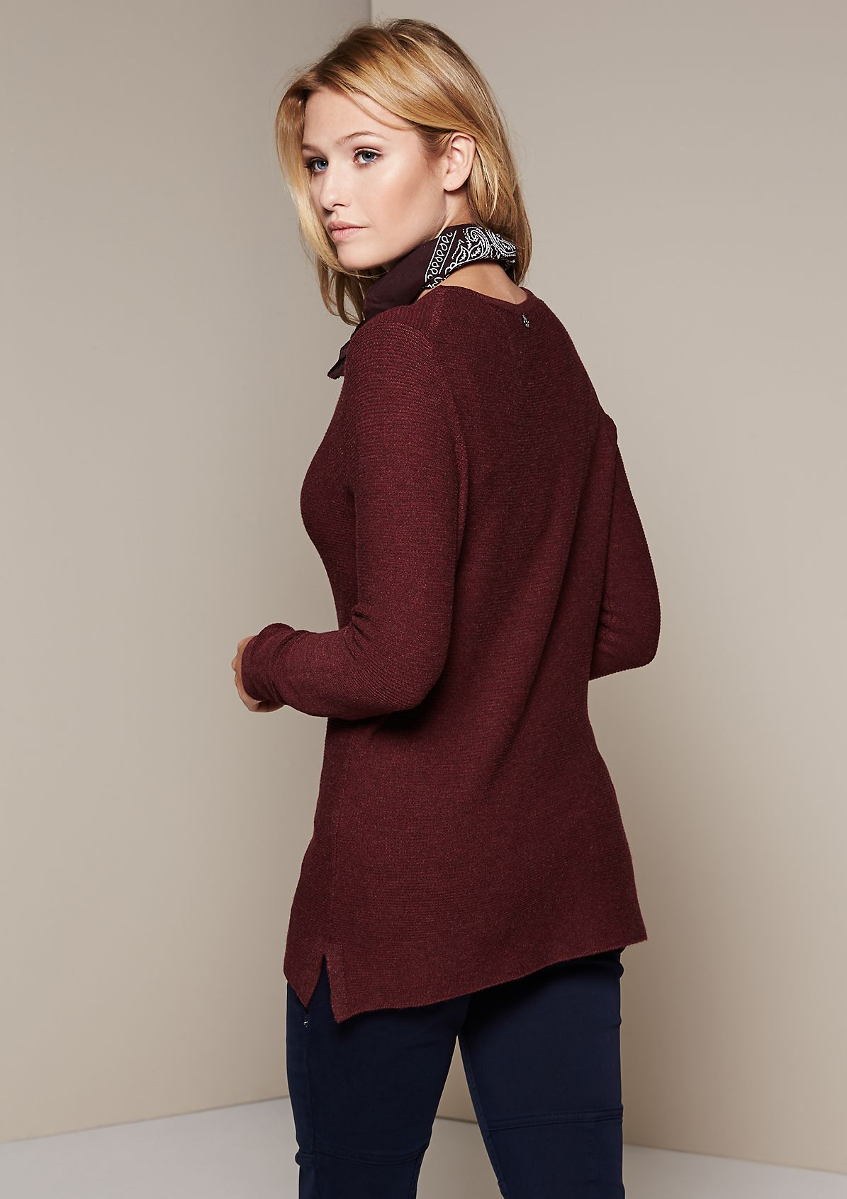 Lightweight knit jumper with a ribbed pattern from s.Oliver