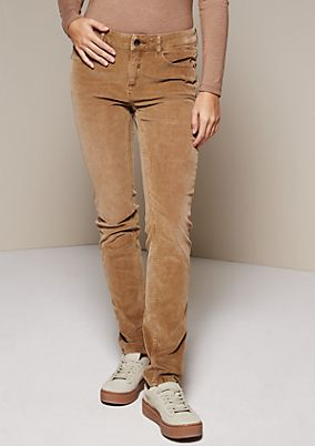 Sporty needlecord jeans with sophisticated details from s.Oliver
