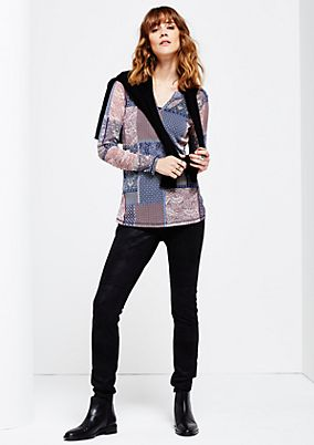 Super delicate mesh top with a beautiful all-over print from s.Oliver