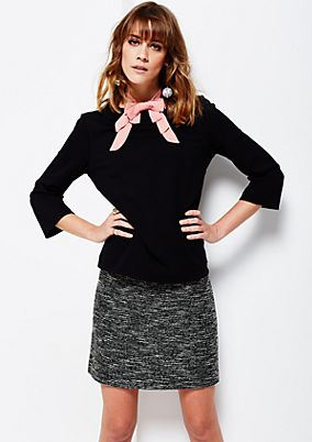 Smart winter top with 3/4-length sleeves and a mottled finish from s.Oliver