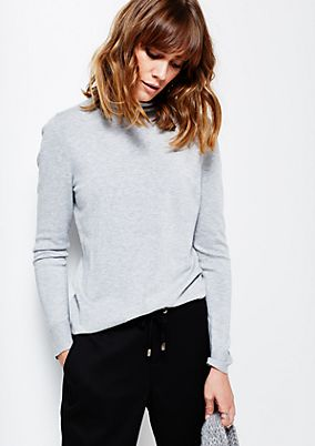 Classic knit jumper with beautiful details from s.Oliver