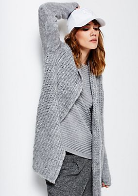 Cosy long cardigan with sophisticated details from s.Oliver