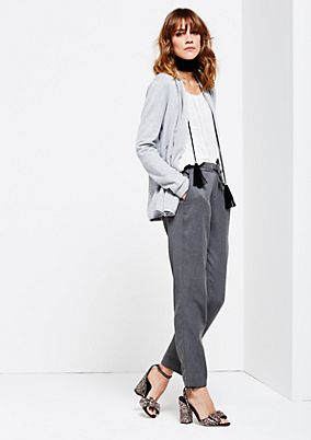 Casual lounge trousers with a drawstring panel from s.Oliver