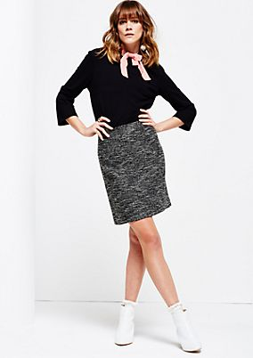 Elegant skirt with a mottled finish from s.Oliver