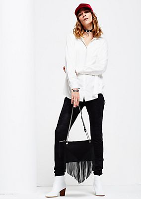 Glamorous evening bag with long fringing from s.Oliver
