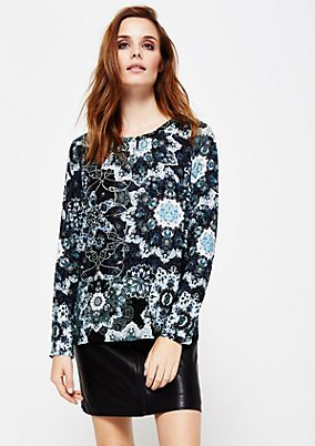 Floaty long sleeve blouse with an elaborate all-over print from s.Oliver