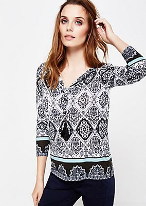 Beautiful long sleeve top with a decorative all-over print from s.Oliver