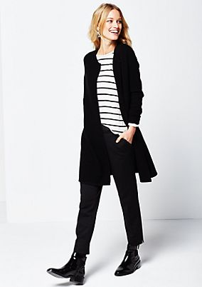 Soft long cardigan in a ribbed look from s.Oliver