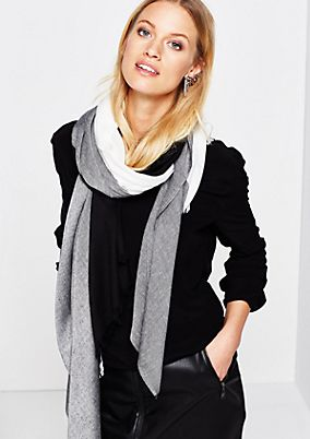 Lightweight scarf with a sophisticated colour block pattern from s.Oliver