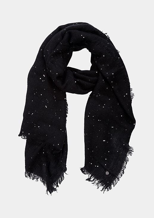 Scarf with a sparkling sequin trim from s.Oliver