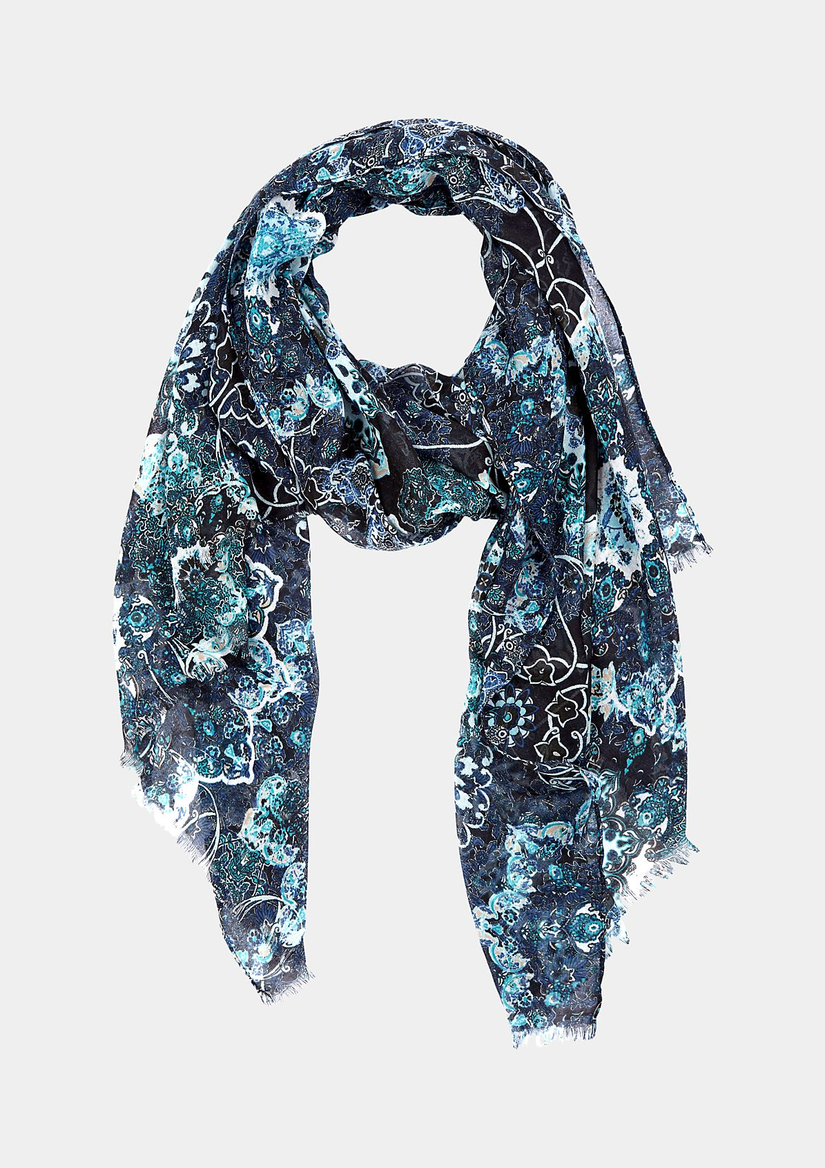Lightweight scarf with a beautifully arranged all-over pattern from s.Oliver