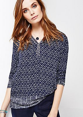 Lightweight long sleeve blouse with a pretty all-over print from s.Oliver