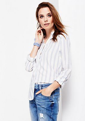 Charming long sleeve blouse with a fine striped pattern from s.Oliver