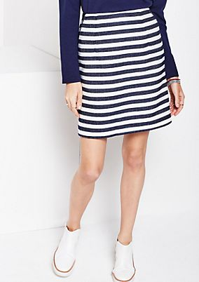 Beautiful short skirt in a classic striped look from s.Oliver