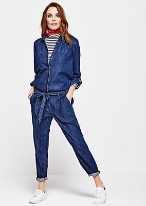 Cool denim jumpsuit in a vintage look from s.Oliver