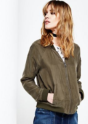 Lightweight blouse in a bomber jacket style from s.Oliver