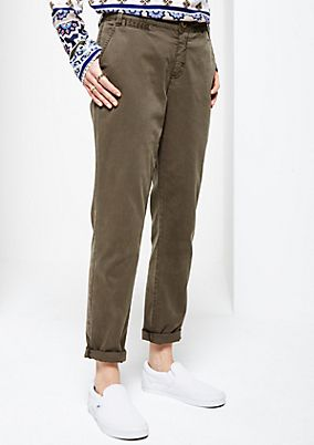 Casual cotton trousers in a fine garment wash from s.Oliver