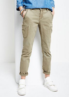 Casual trousers with a vintage finish from s.Oliver