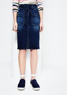 Classic denim skirt in a vintage look from s.Oliver