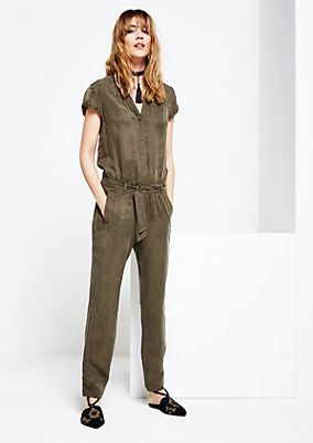 Casual jumpsuit with short sleeves from s.Oliver