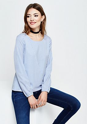 Summery long sleeve blouse with stripes from s.Oliver