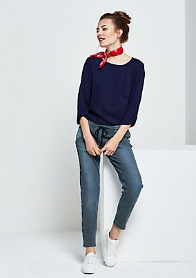 Casual crêpe blouse with 3/4-length sleeves from s.Oliver