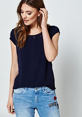 Fine short sleeve top in a sophisticated mix of materials from s.Oliver