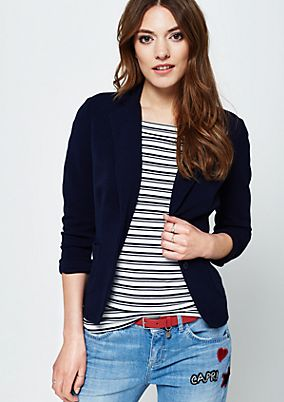 Lightweight blazer with a ribbed textured pattern from s.Oliver