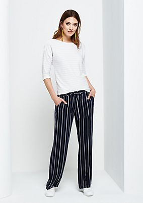 Extravagant business trousers with a striped pattern from s.Oliver