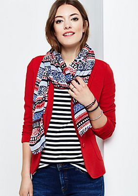 Lightweight scarf with decorative pattern from s.Oliver