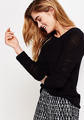 Smart knitted jumper with long sleeves from s.Oliver