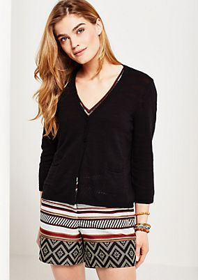 Classic cardigan with 3/4-length sleeves from s.Oliver