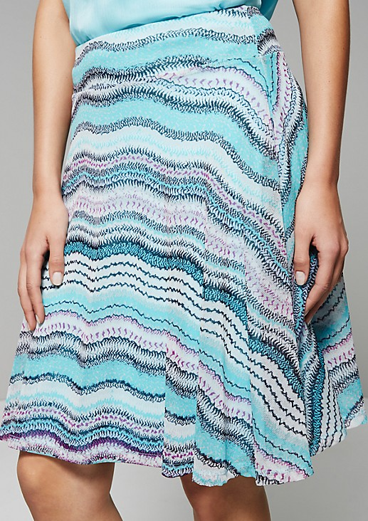 Summery mesh skirt with a fine pattern from s.Oliver