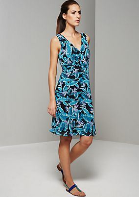 Beautiful crêpe dress with a decorative pattern from s.Oliver