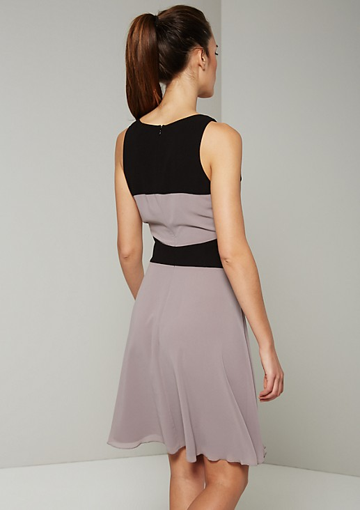 Exciting evening dress in a colour block look from s.Oliver