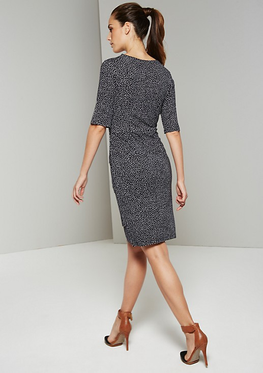 Lightweight jersey dress in a trendy polka dot design from s.Oliver