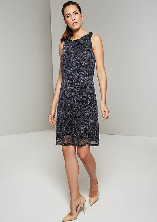 Delicate chiffon dress with glamorous details from s.Oliver