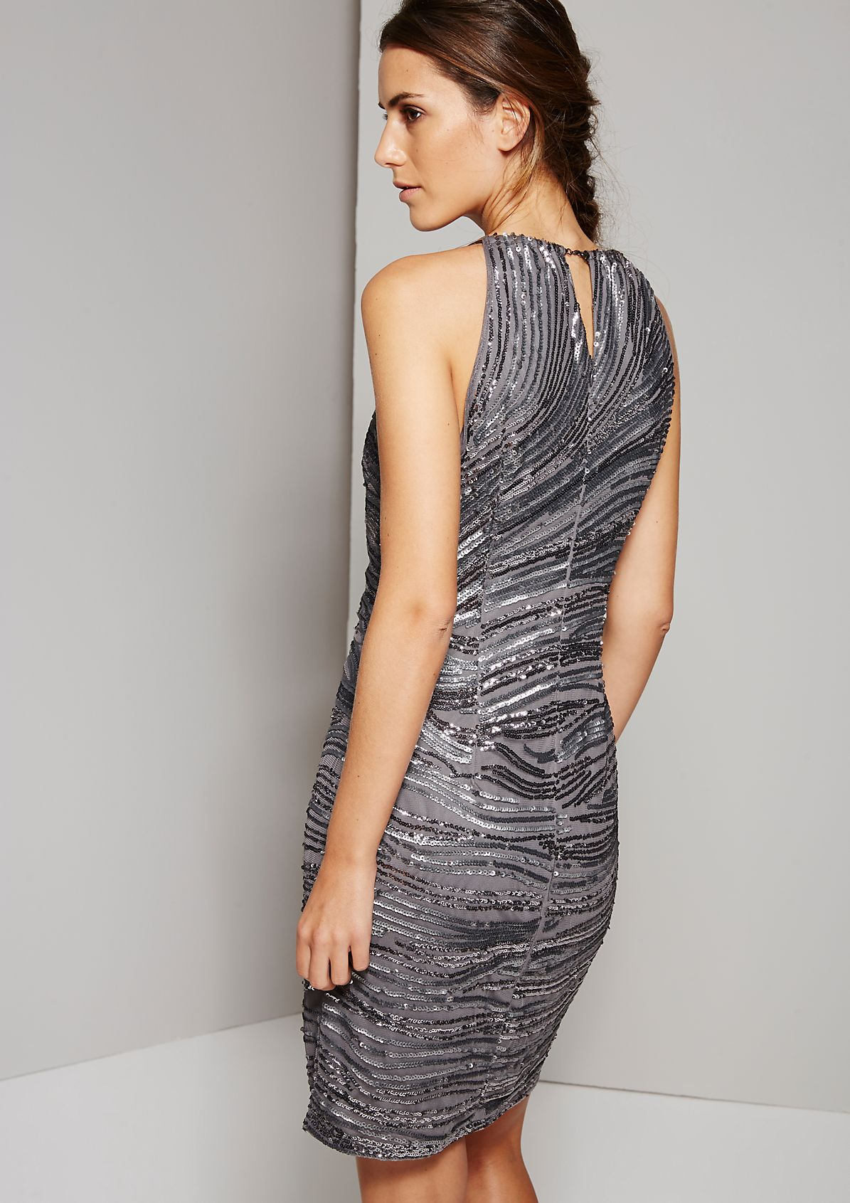 Extravagant evening dress with sparkling sequins from s.Oliver