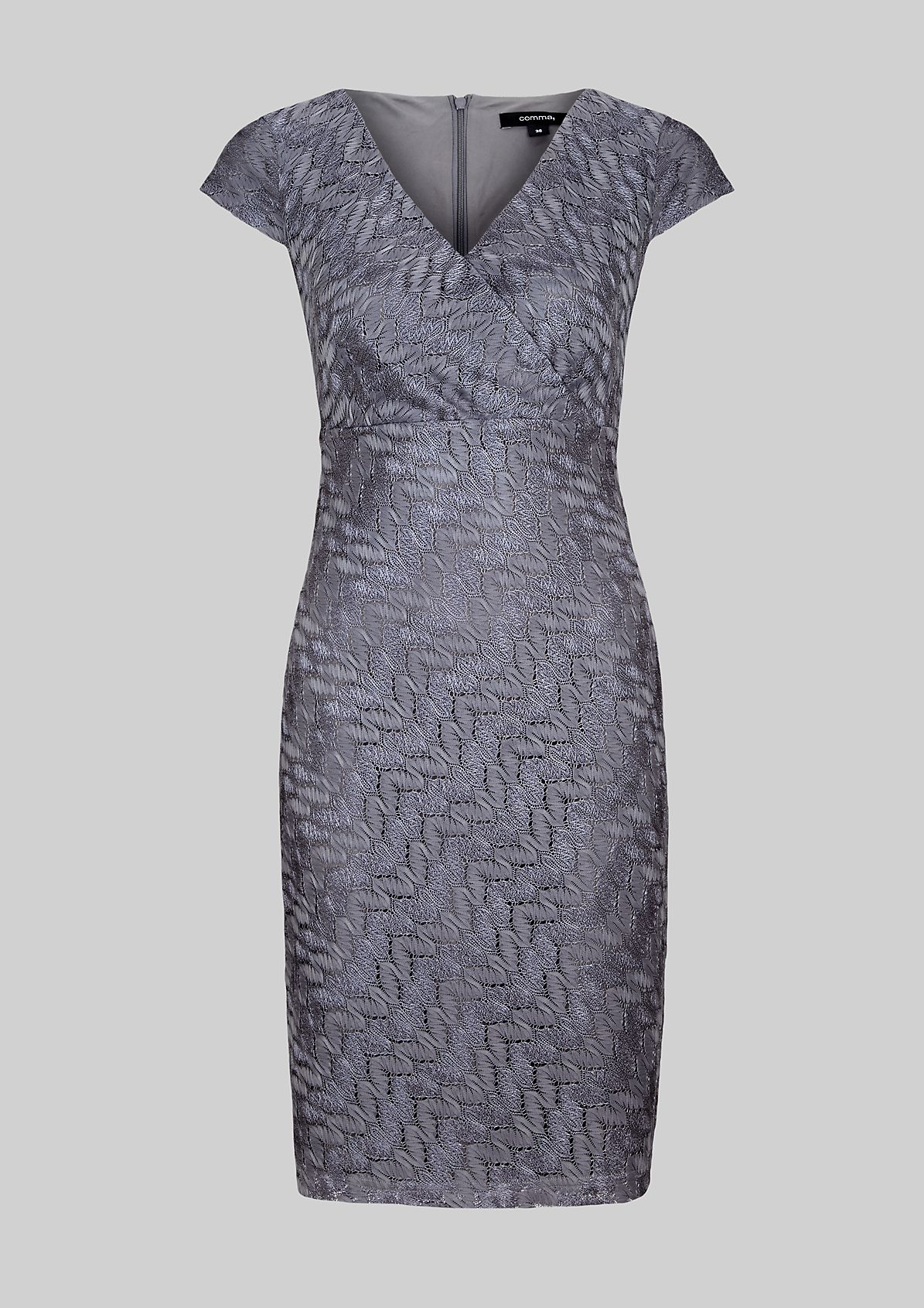 Extravagant evening dress with an exciting pattern from s.Oliver
