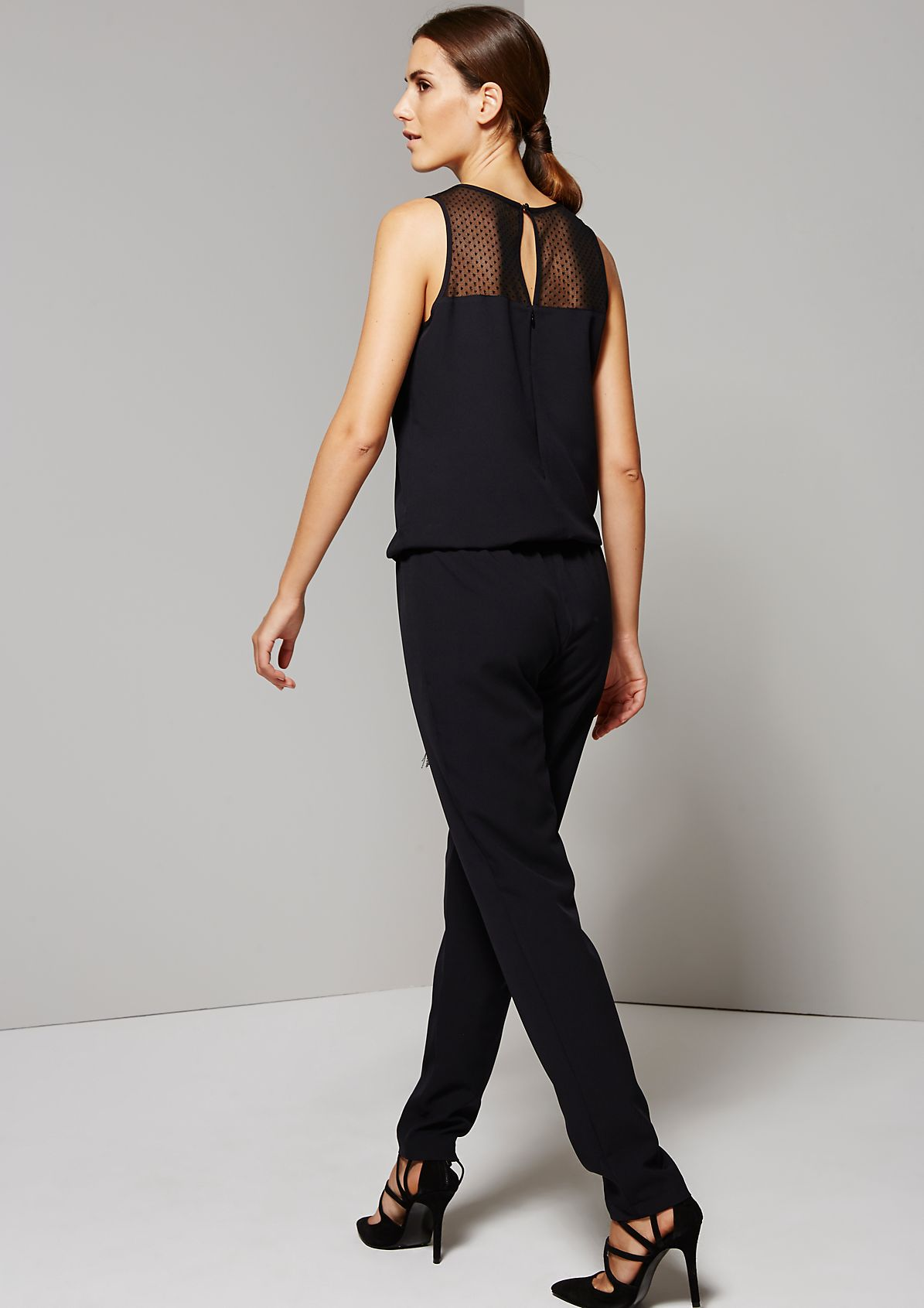 Glamorous jumpsuit with delicate lace details from s.Oliver