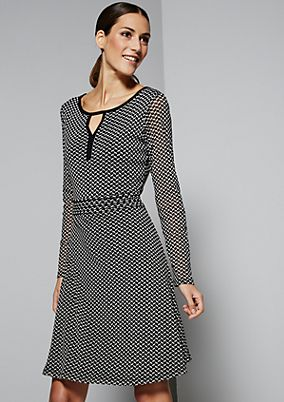 Delicate mesh dress with a minimalist, 60s-inspired design from s.Oliver