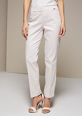 Extravagant business trousers with a stunning pattern from s.Oliver