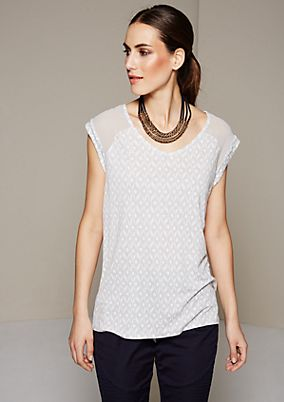 Summery top in a mix of patterns and fabrics from s.Oliver