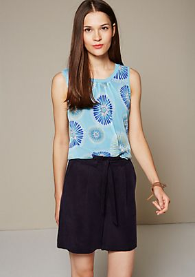Delicate mesh top with a pretty pattern from s.Oliver