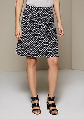 Delicate mesh skirt with a fine pattern from s.Oliver