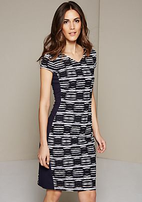 Elegant cocktail dress with geometric patterns from s.Oliver