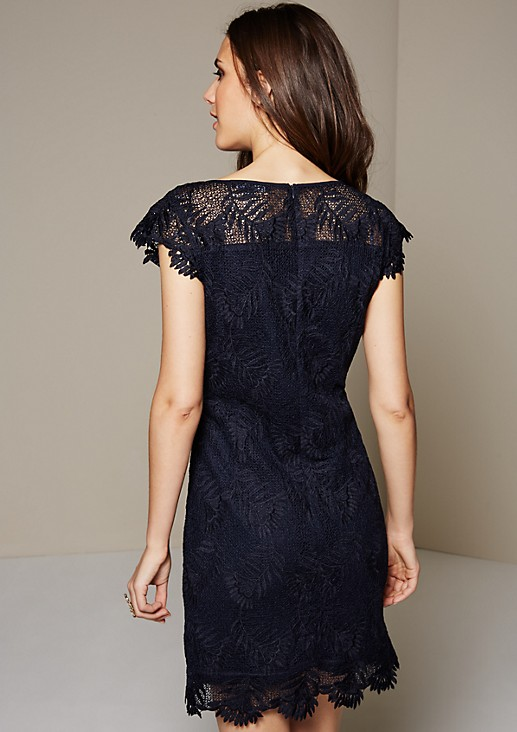 Elegant evening dress made of top-quality lace from s.Oliver