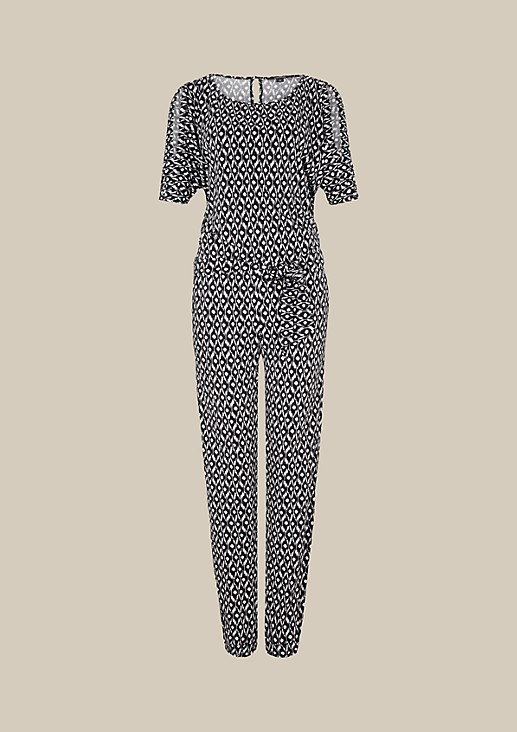 Extravagant jumpsuit with a beautiful all-over print from s.Oliver