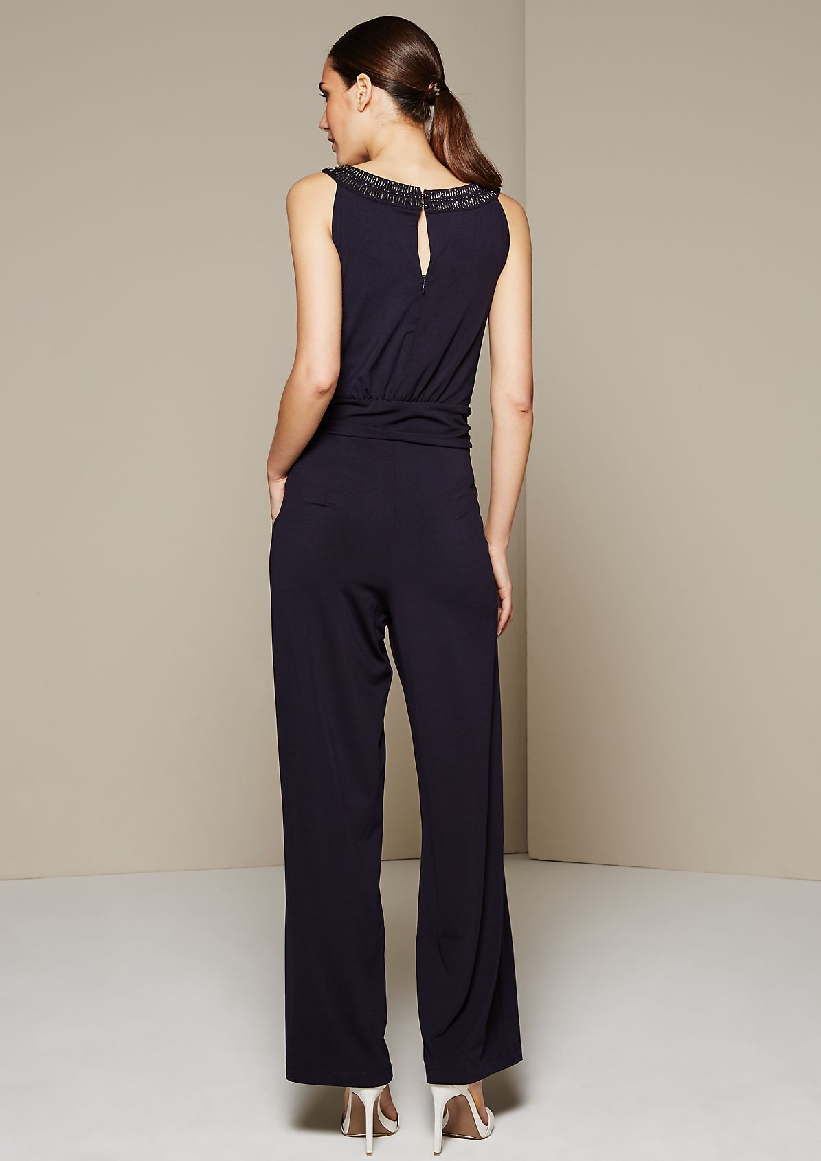 Lightweight summer jumpsuit with a glamorous, decorative trim from s.Oliver